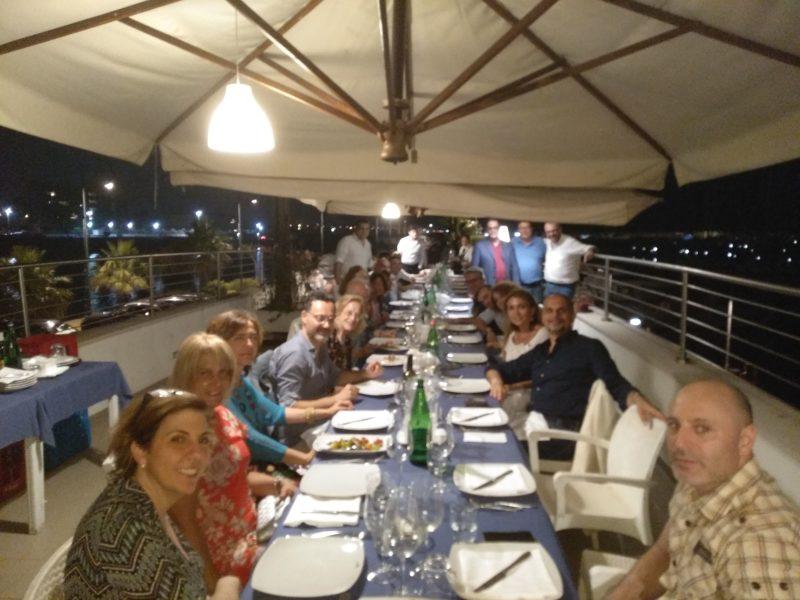 Salerno, cena Ex Allievi a Salerno del 4 luglio 2018