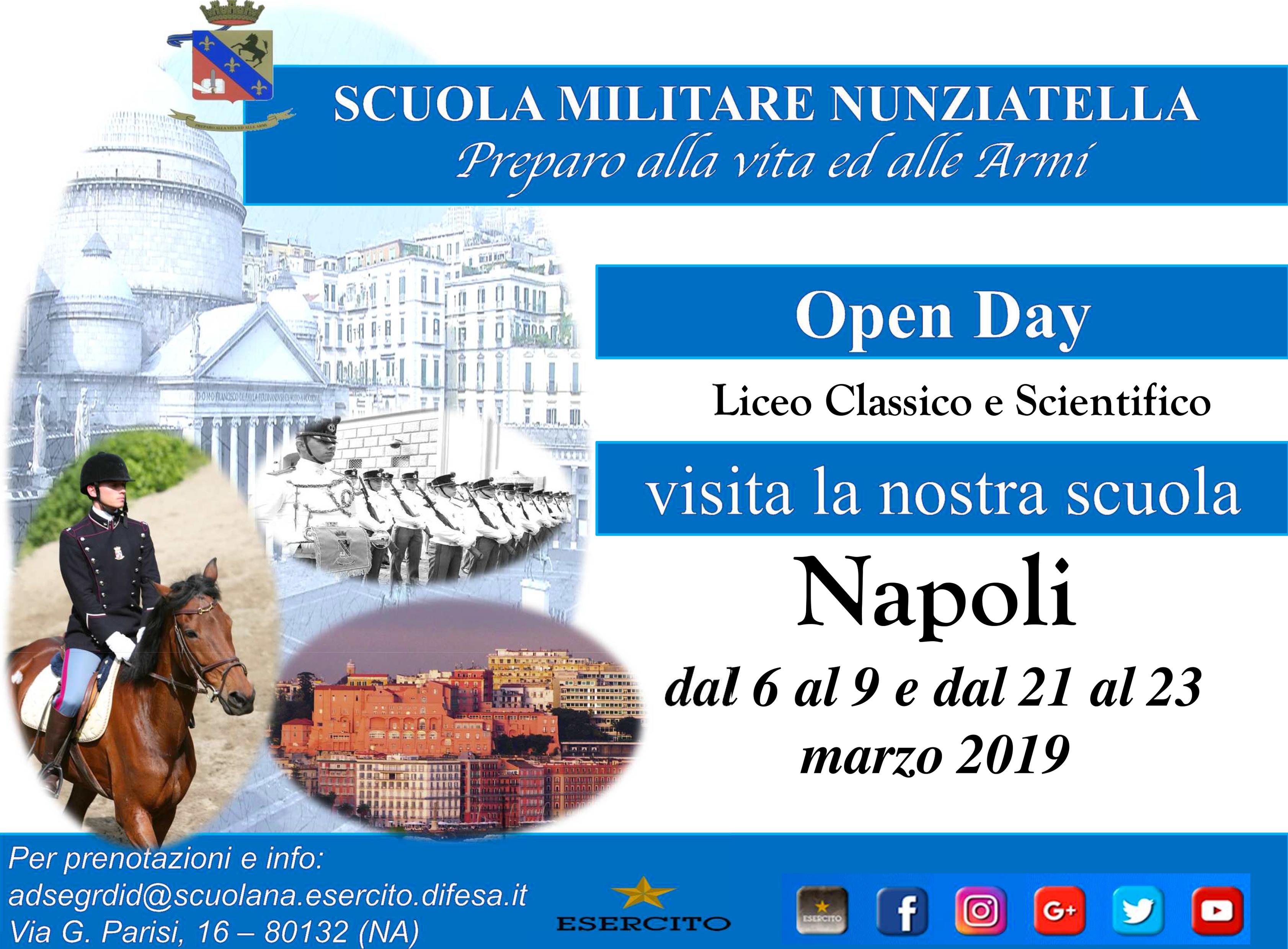 Pubblicate le date degli Open Day per l'anno 2019