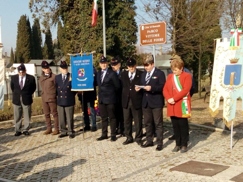 Roncade (TV) 9 febbraio 2019 : resoconto della cerimonia del Giorno del Ricordo – Sezione Veneto