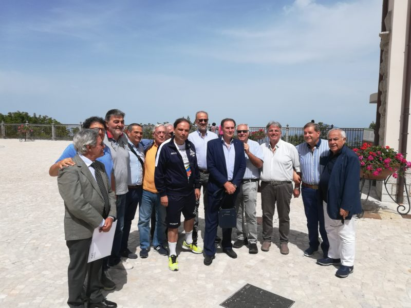 Mercogliano (Av) 22 giugno 2019-1^ tappa Regione Campania Universiadi Napoli 2019-Incontro ex allievi 184^Corso(1971-75)