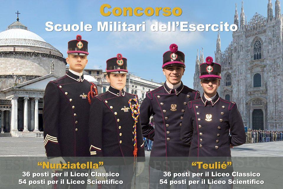 """Concorso per l'ammissione alla Scuola Militare """"Nunziatella"""" – 2020"""