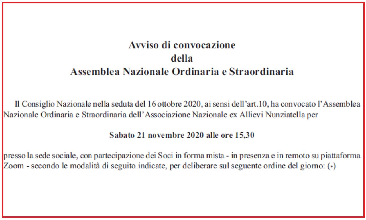 Convocata l'Assemblea Ordinaria e Straordinaria per il 21 novembre 2020.