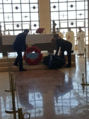 El Alamein 2020 Cerimonia Muscaridola depone Corona Nunziatella